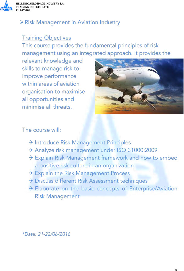 risk management of airline industry African airline industry and uses data on south african airways (saa)  in  addition to the normal management risks, airline companies also.